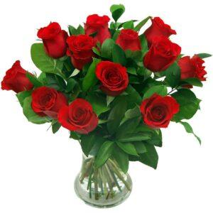True Romance 12 Red Roses