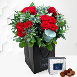 Grandeur - Valentine's Flowers - Valentine's Day Flowers - Valentine's Red Roses - Red Roses Bouquet - Send Valentine's Flowers